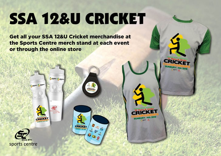 2018 12 Years & Under Cricket Championship Merchandise Available!