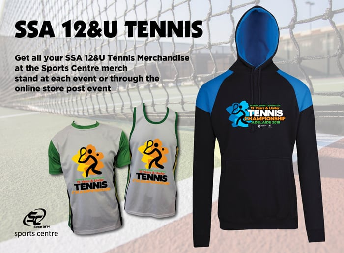 2018 12 Years & Under Tennis Championship Merchandise Available